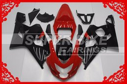 Wholesale NEW high quality Injection fairings BOLTS Aftermarket ABS Black And Red GSXR K4 GSXR750 Good Quality Fairing Kits For Suzuki
