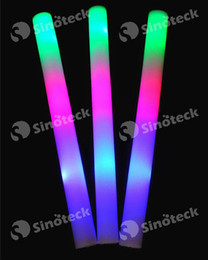 Canada Led Foam Stick Clignotant Light Cheering Glow Sponge Baton Pour Wedding Party Concert Noël Gift Changing Flash Gratuit DHL UPS Factory Direct Offre