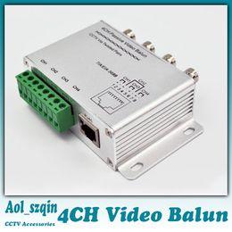 Balun pasivo de vídeo de 4 canales en Línea-4CH UPT video pasivo del Balun CCTV a través de pares trenzados para NTSC PAL SECAM CCIR para Sistema de cámaras de seguridad CCTV