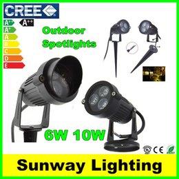 Wholesale Cree LED Floodlights Garden Spot light Outdoor Waterproof IP65 W W RGB Landscape Lights Wall Yard Path Pond Lawn Lighting V V V