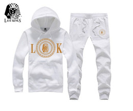 Free Shipping s-5xl men new Hottest hip hop hoodie + pants set Men's Sweatshirt last kings Tracksuits