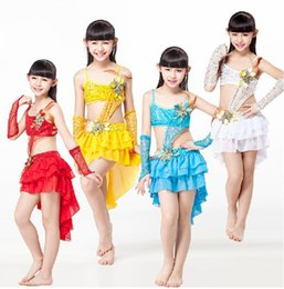 Wholesale Children Dancewear Mermaid Tails Skirt Children Latin Dance Dress One piece Dress Dance Costume for Girls Latin Dress