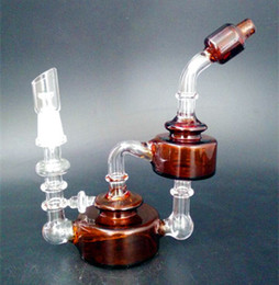 Wholesale new Bear Moutain Studios Honey Jar Recycler Oil rigs Glass water pipes with inline perc mm joint size
