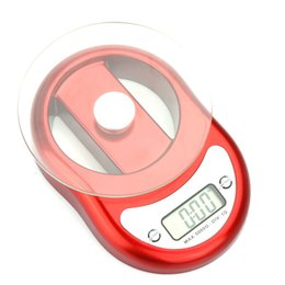 Wholesale Red kg g Electronic Kitchen Scale Toughened Glass Scale Pan with Clock Countdown Alarm Function