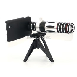Wholesale Covers Galaxy Zoom - Wholesale-New Arrival Mobile Phone Telescope Camera 5X -15X Zoom Optical Telescope Lens For Samsung Galaxy S4 Lens Case Cover CL-74