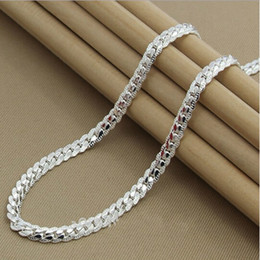 Wholesale-Fashion High quality brand new womens mens male female 925 Sterling silver Necklace Necklaces Pendant chain Link Pendants KX130