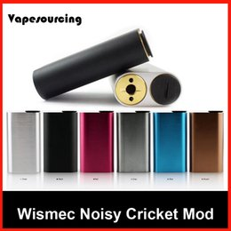 Wholesale IN stock Original Wismec Noisy Cricket Mod SMPL Style Button Hybrid Adaptor Bottom Box Mod Best For Indestructible RDA Atomizer