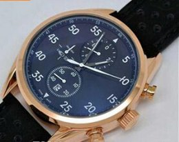 Fashion Brand Rose Gold 18k Brown Leather Casual Calibre 16 CAL 1887 Watch Luxury Men Quartz Chronograph Modern Sport Mens Wristwatches Man