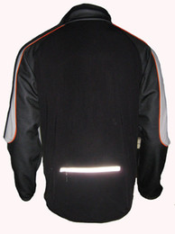 Wholesale-Jaggad New Mens Spandex Black Bike Bicycle Cyling Jacket Jersey