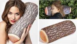 Wholesale Pieces Green Log Pillow Wood Throw Pillows with Wood Grain cm
