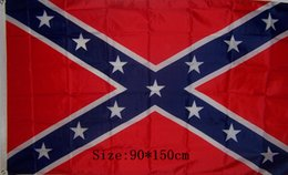 Wholesale Two Sides Printed Flag Confederate Rebel Civil War Flag National Polyester Flag X FT