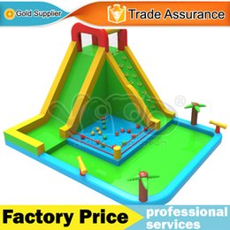 Wholesale YARD family use nylon splashing bounce house inflatable water park water slide toys game playground with blower