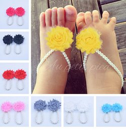diy baby shoes baby foot ring hot summer barefoot shoes flowers foot ornaments wholesale baby 12pcs