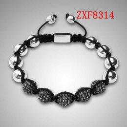 jewelry factory!Nialaya Individuality Best bracelets shamballa gold alloy cool dill Weave adjust High-grad Copper Beads bracelets ZXF8314