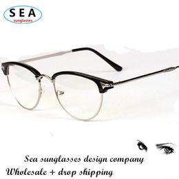 Fahion Semu-rimless glasses MEN eye glasses frame eyeglasses WOMEN oculos de grau femininos optical computer eyeglasses s0287