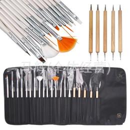 20pcs set Nail Art Design Nail Salon Painting Dotting Pen Brushes Tool Kit Nail Art Design Painting Draw Dotting Pen with Case Set Wholesale