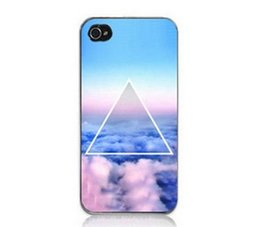 Wholesale New Fashion Space Sky Ladder Triangle Plastic Back Phone Case Cover For IPhone S S C