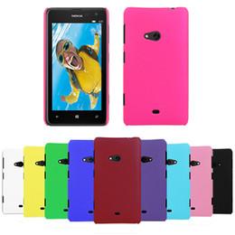 Wholesale Cubierta protectora del caso trasero delgado del plástico duro de la alta calidad para Nokia Lumia liberan el envío