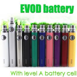 Top quality EVOD Battery Level A cell for EVOD BCC MT3 CE4 CE5 protank aerotank itank BVC BDC glass tank Electronic Cigarette ego atomizer