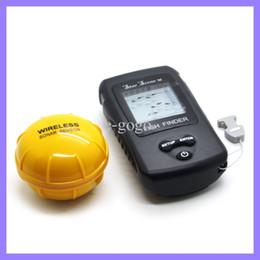 Wholesale RF wireless fish finder m m fish alarm depth scale with inch lcd display Dot Matrix Sonar Radio River Lake fishfinder