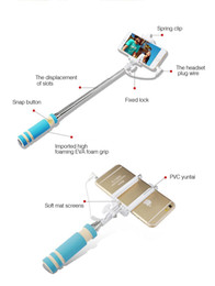 Wholesale Smallest Mini selfie stick pocket pen size monopod sticks Foldable wired Self portrait For Iphone samsung DHL