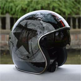 Cascos de carreras de la vendimia en venta-precio al por mayor de fábrica capacetes Casco envío libre se desplomaron las carreras de 3/4 cara abierta casco de la motocicleta de la vendimia retro scooter de casco