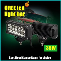 Wholesale 7inch W CREE LED Work Light Bar Lightbar Flood Spot Combo Beam X4 Offroad Lamp for Vehicles UTV Offroad Truck Boat Driving Light