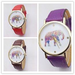 2017 regarder rose d'or 2015 Montres mode pour les femmes Elephant Montres Golden Dial Quartz Analogique cuir PU bande de montres vestimentaire pour les femmes regarder rose d'or autorisation