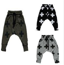 nouvelles filles Boy Toddler Enfant Mode Garçons Pantalons Pantalons Leggings Croix étoiles hip hop Pantalons Enfants Harem Pour Pantalons Vêtements de bébé 56 à partir de hip hop enfant fabricateur