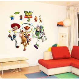 Toy Story Cartoon Movie Wall Sticker Hot Cartoon Wall Decals Fashion Comic Movie Children's Favor Wall Paper