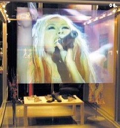 Wholesale Fedex Hot Sale m m magic ultra light holographic screen film Full HD D rear projection film foil