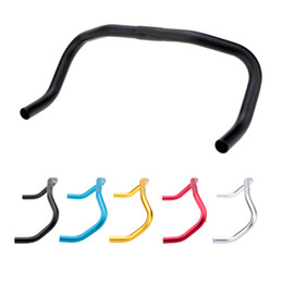 Wholesale 390 mm Durable Aluminum Alloy Bicycle Handlebar Bend Bar for Fixed Gear Bike Bicycle Parts Bicycle Handlebar Y1595