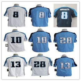 Wholesale Cheap Titans A series of American Football Jerseys Blue white Man Rugby Stitched Jersey On Mix Order