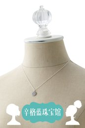 Wholesale Between Singh Blue Wave months stella dot Set diamond marking clavicle chain earrings two sets