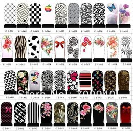 Wholesale Best Selling sheets hundreds designs water decals DIY nail art sticker sheet Nail art use Item no