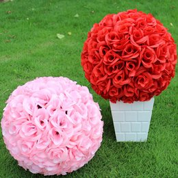 """20CM 8"""" New Artificial Encryption Rose Silk Flower Kissing Balls Hanging Ball Christmas Ornaments Wedding Party Decorations"""