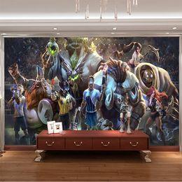 3D Game Wall Mural League of Legends Photo Wallpaper Custom Art Wallpaper Boys Bedroom Livingroom Large wall Art Room Decor Hallway Kids