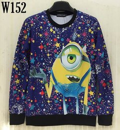 Wholesale Mikeal d sweatshirts for Men women printed Animate alien casual Stars Dot hoodies Cartoon hoody men top Fashion W152