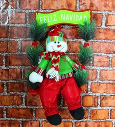 Wholesale MIXED Lovely Christmas Gifts Tree Hanging doll Swing Santa Claus Christmas hang hang act the role of door window