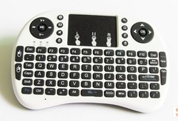 Wholesale-For English Mini 2.4Ghz Wireless Keyboard Air Mouse Remote Control Touchpad For Laptop TV Box PC Tablet Mini PC