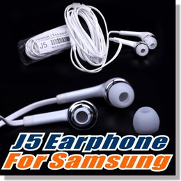 Wholesale For Samsung S6 earphone OEM mm Tangle Free Stereo Headset with Microphone and Volume Key For iPhone Non Retail Packaging White