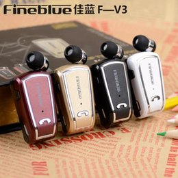 Fineblue F-V3 Wireless Bluetooth Clip Headset Stereo 4.0 Music Headphone Earphone Noise Cancelling with Retail Package 20pcs Free Shipping