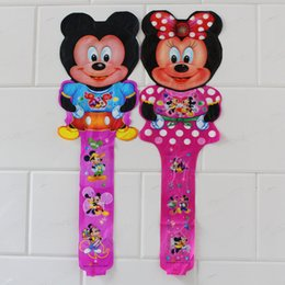 Wholesale cm minnie and mickey mouse cheering stick cartoon design ballon for mickey theme party decoration