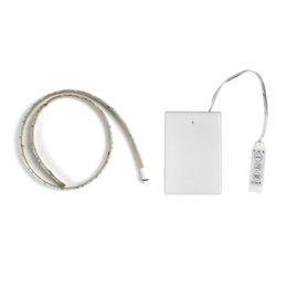 3AA Battery Powered LED Strip 3528 SMD 50CM 1M 2M Warm White Cool White RGB IP65 Waterproof Flexible LED Strip String Light