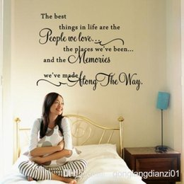 Wholesale The Best Things In Life Wall Quote Sticker Vinyl Art Words Decal Home Decor DIY