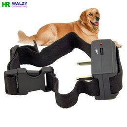Wholesale Dog No Bark Collar Anti Bark No Barking Tone Shock pet dog Training Collar Dogs BK017
