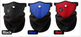Wholesale RED BLUE BLACK Neck guard cycling Half Face Mask Winter Veil Windproof For Sport Bike Bicycle Ski Snowboard Outdoor mask