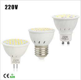 Energy Saving LED Spotlight Bulb E27 GU10 MR16 7W AC 220V Heat resistant Body 5730SMD 27LEDs lamp lighting