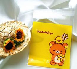500pcs 10x13cm 10x10+3cm Cute Flower Bear Self Adhesive Bag Cookie Food Bag Packaging Plastic OPP Bag Jewelry Gift Poly Bag