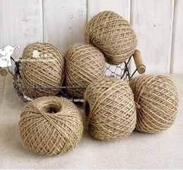 Wholesale-Jute Twine 30Meter Natural Sisal 2mm Rustic Tags Wrap Wedding Decoration Crafts Twisted Rope String Cord Events Party Supplies